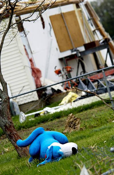 Storm damage stock photo