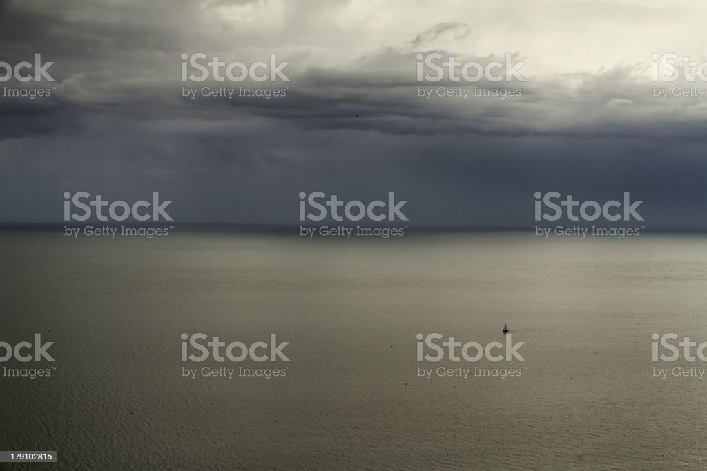 Storm day on the sea royalty-free stock photo