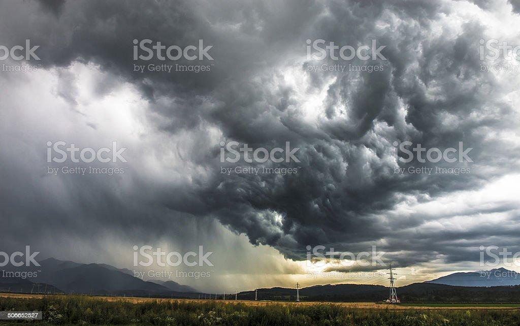 storm dramatic sky stock photo