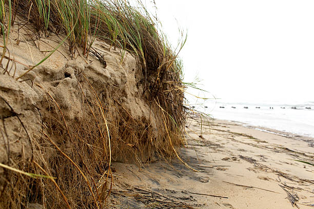Storm Erosion stock photo