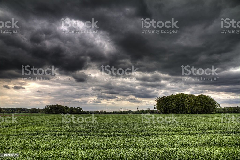 Storm fields stock photo