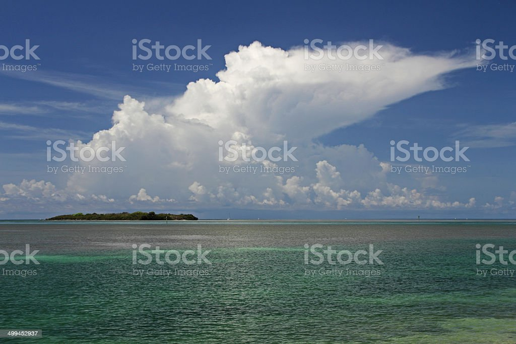 Storm Forms Over Indian Key stock photo