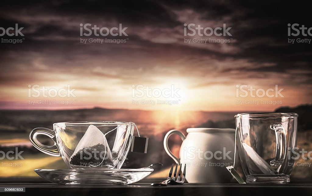 Storm in a teacup stock photo