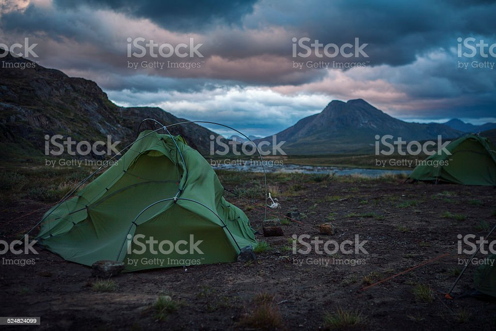 Storm in Greenland stock photo
