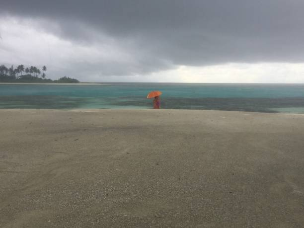 Storm in Maldive stock photo