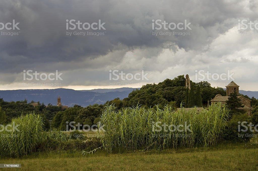 Storm in Montseny stock photo