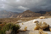 Storm approaching Red Rock Canyon in Nevada, USA.