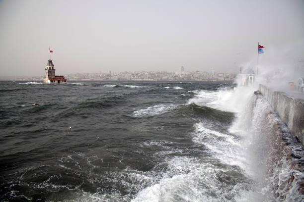 storm in Salacak ,Istanbul,Turkey stock photo