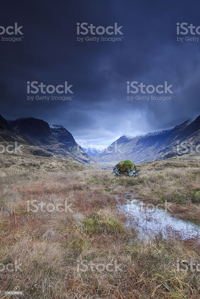 Storm in the highlands stock photo