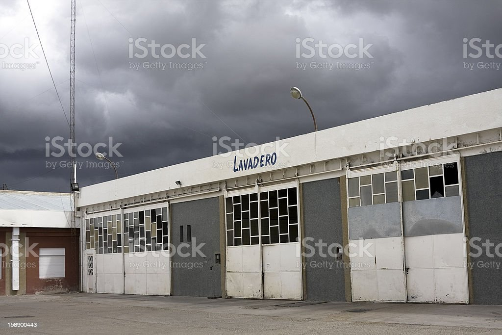 Storm in the laundry royalty-free stock photo