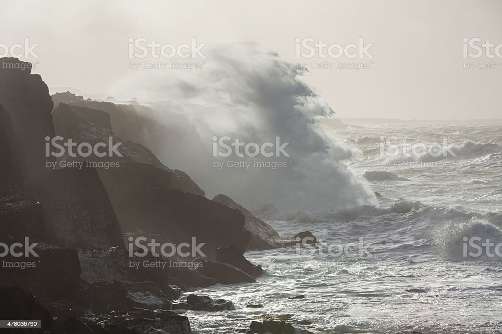 Storm in the ocean stock photo