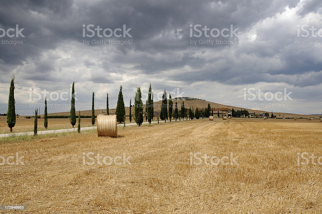 Storm in Tuscany stock photo