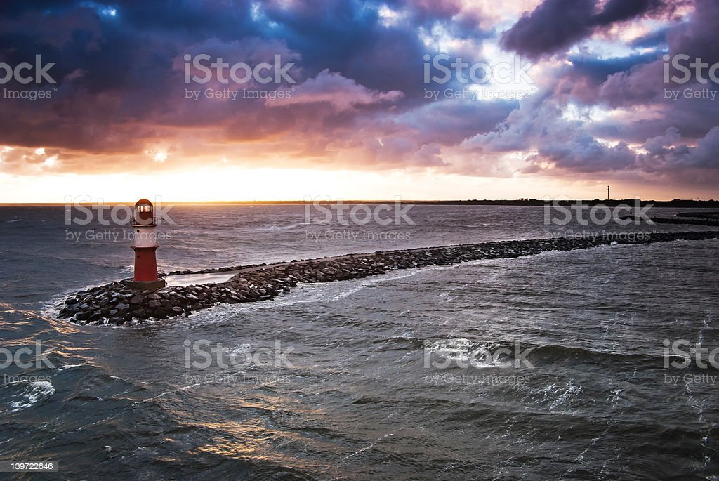 Storm is coming, lighthouse will guide you royalty-free stock photo
