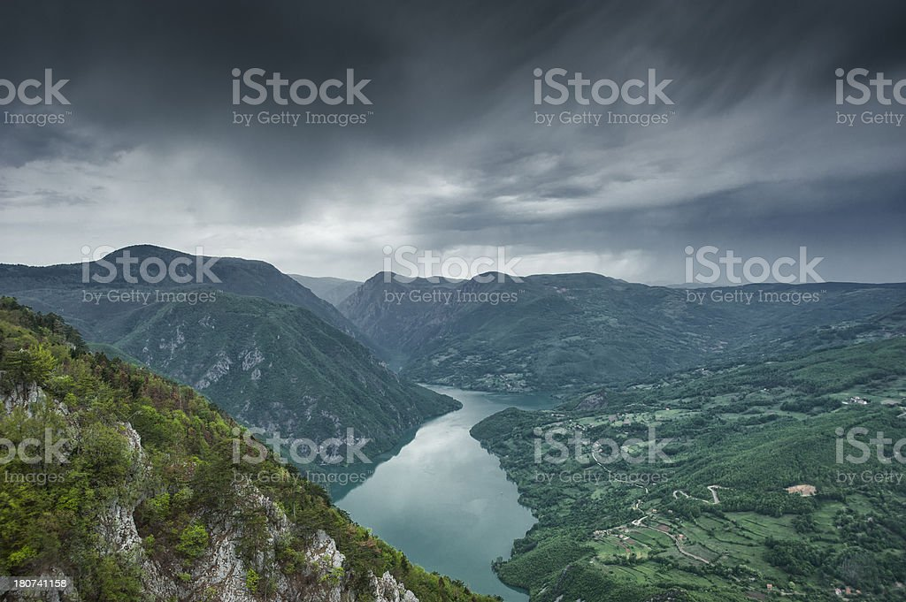 Storm is coming over the valley royalty-free stock photo