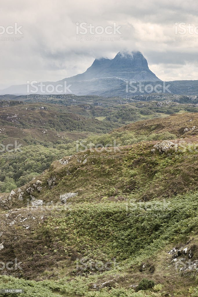 Storm Lifting From Suilven royalty-free stock photo