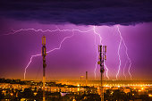 istock storm lightning on the horizon over the city of Dnieper 1124772739