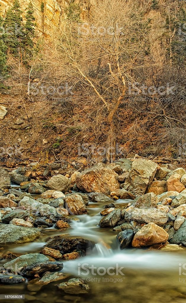 Storm Mountain and the River stock photo