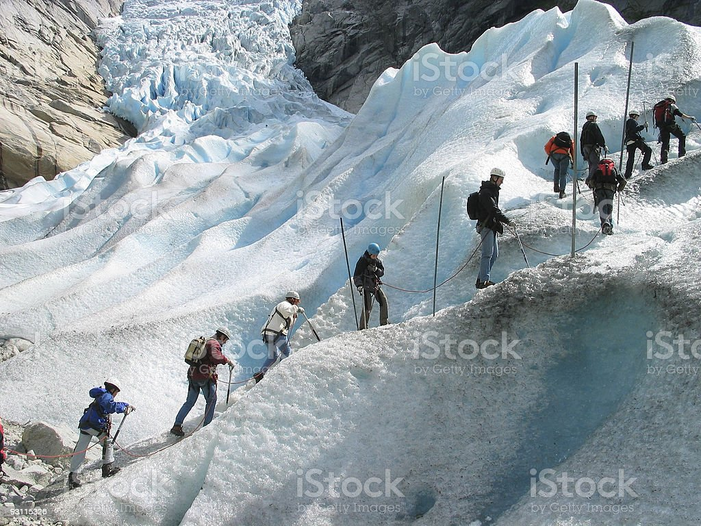 Storm of a glacier royalty-free stock photo