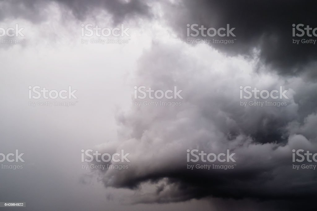 tempesta di nuvole. stock photo
