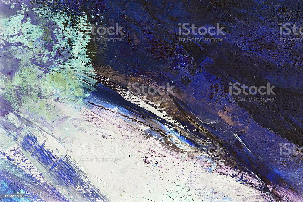 Storm oil painting royalty-free stock photo