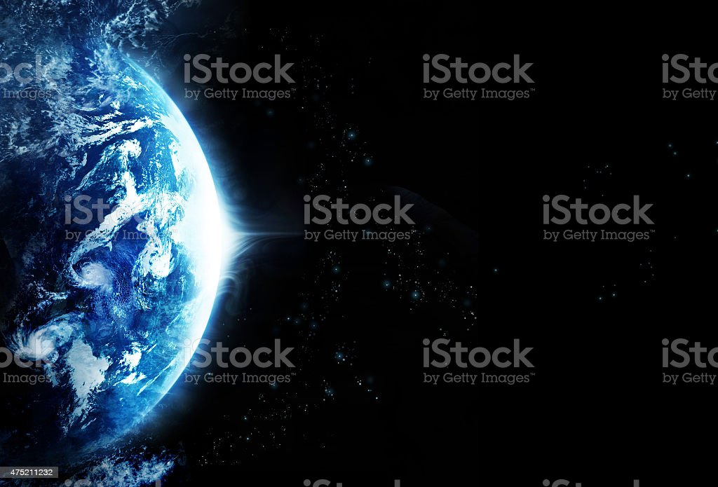 Storm on planet earth, blank text, Original image from NASA.gov stock photo