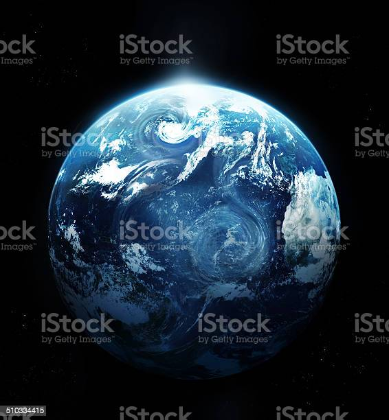 Photo of Storm on the planet earth - Original image from NASA