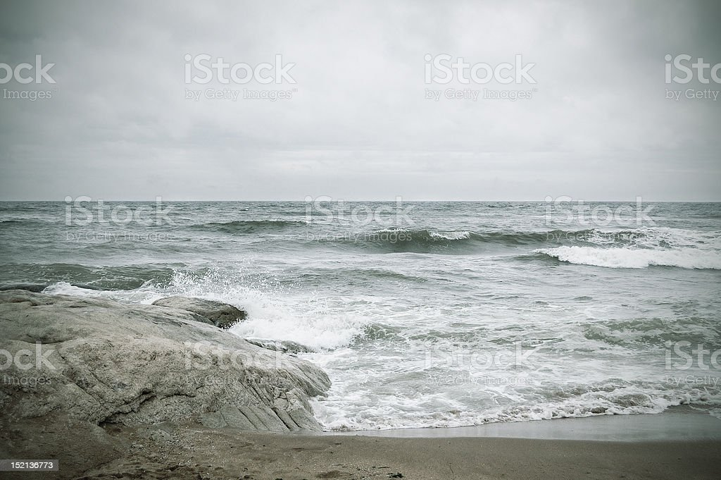storm on the sea royalty-free stock photo