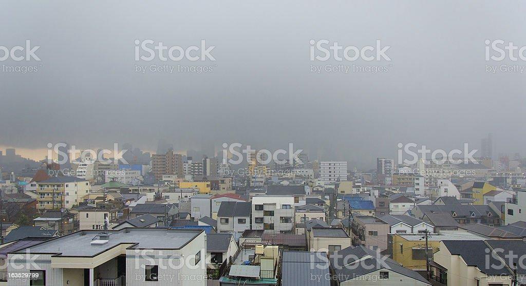 Storm, Osaka, Japan. royalty-free stock photo