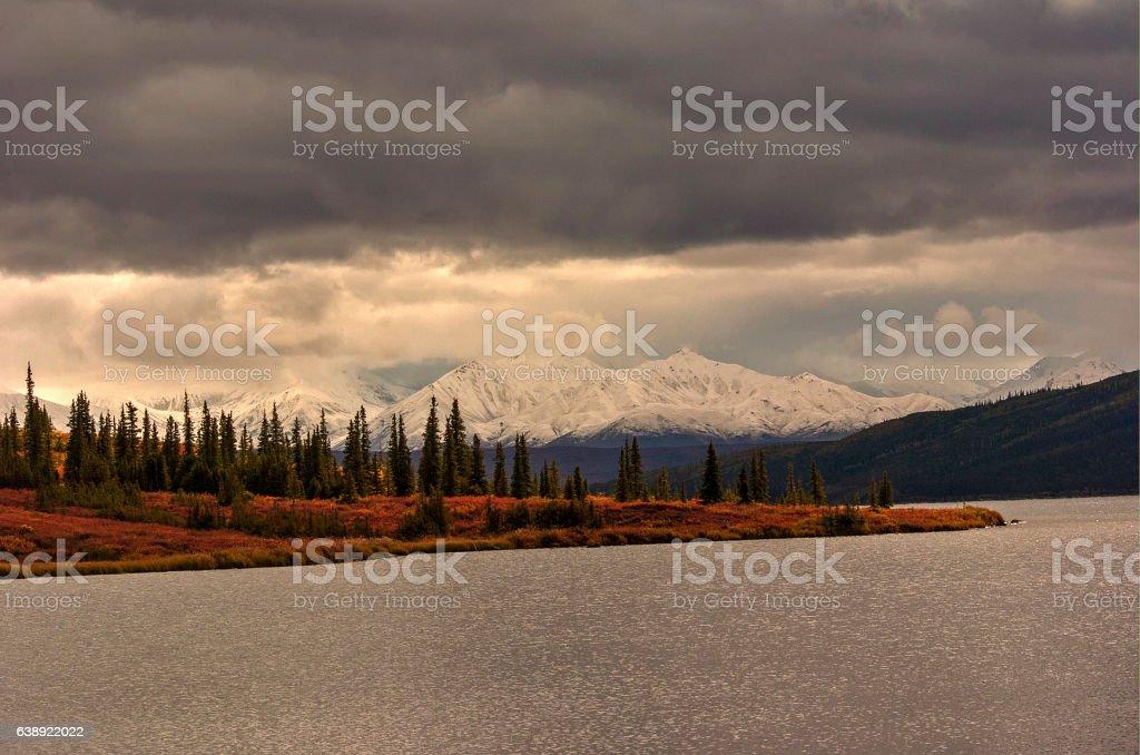 Storm Over Denali stock photo