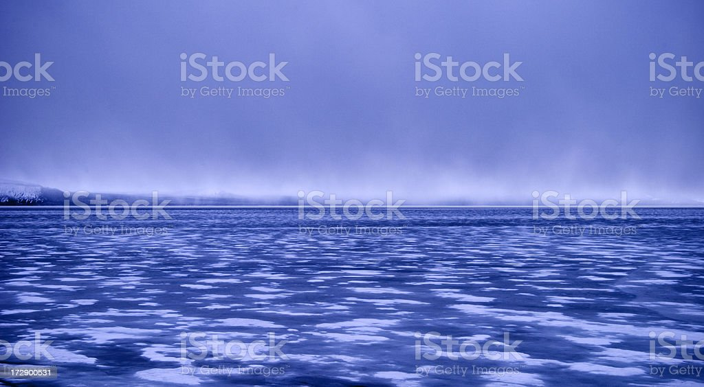 Storm over Ice royalty-free stock photo