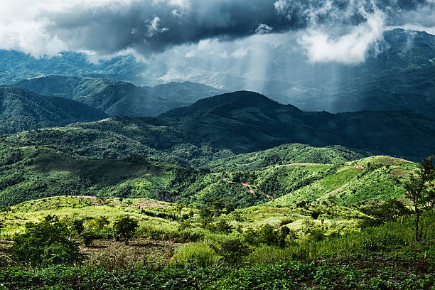 Storm Over Myanmar stock photo