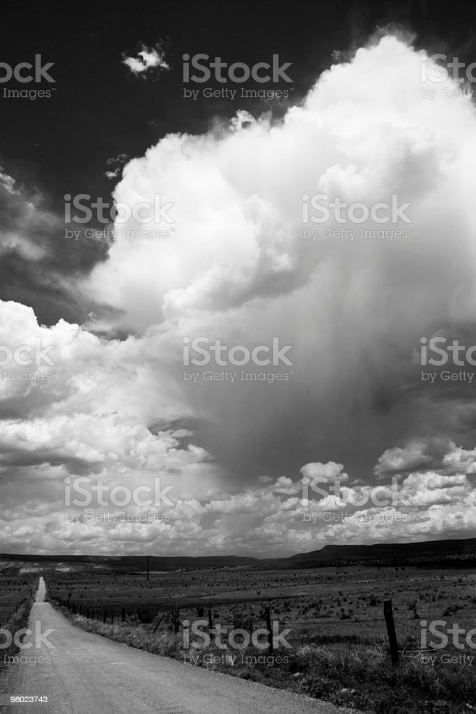 B&W Storm Over New Mexico royalty-free stock photo