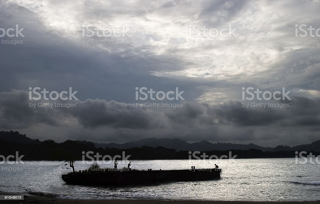Storm over old Dock royalty-free stock photo