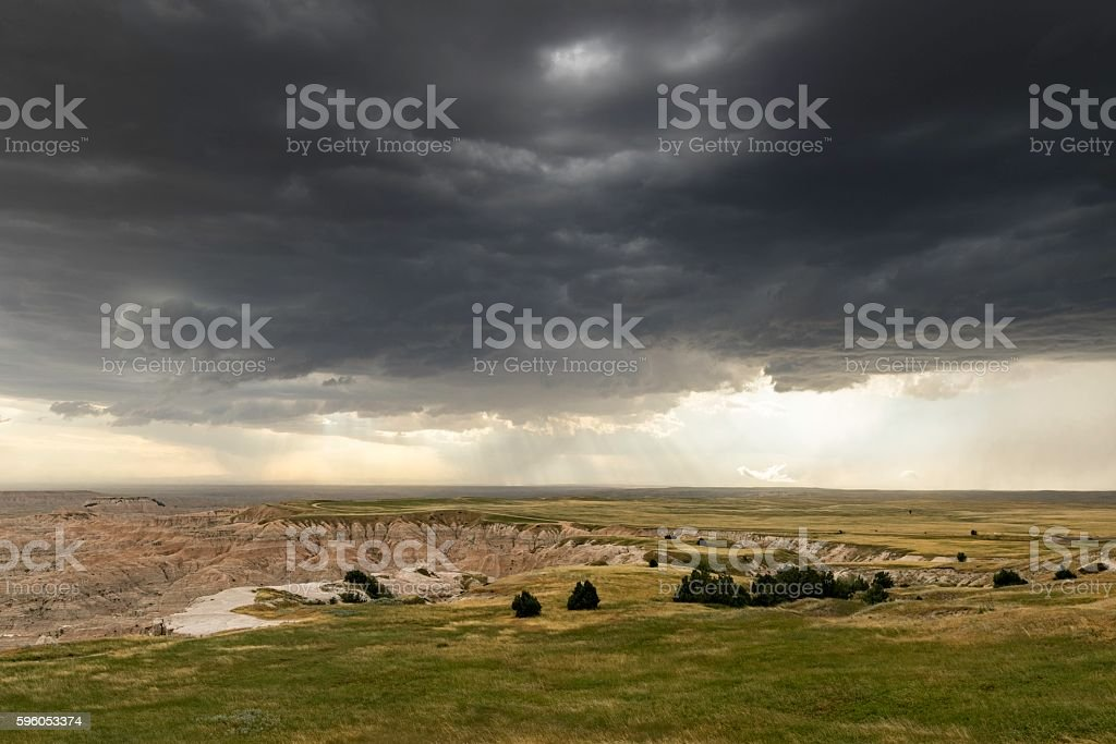 Storm Over The Badlands royalty-free stock photo