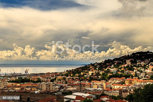 istock storm over the city of Trieste 651834558