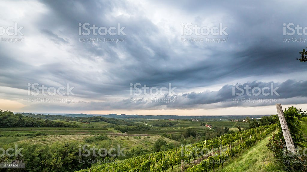 storm over the fields - Royalty-free Abstract Stock Photo