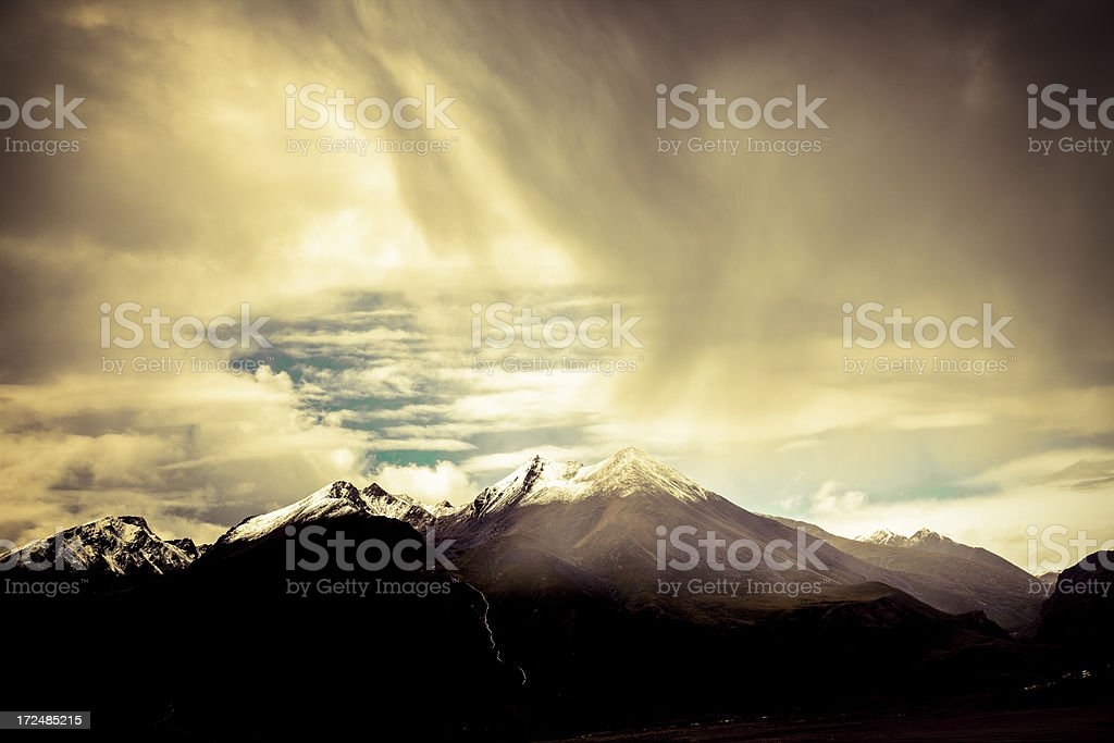 Storm over the  Mountains royalty-free stock photo