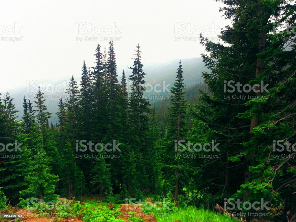 Storm over the Mountains stock photo