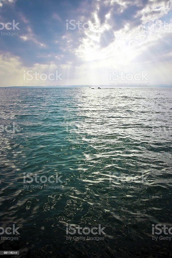 위의 바다빛 폭풍 royalty-free 스톡 사진