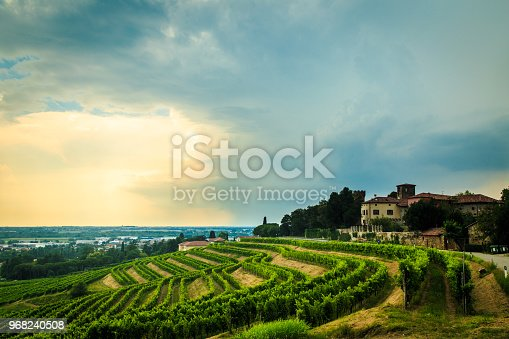 Storm is approaching the vineyards in the fields of Collio, ItalyStorm is approaching the vineyards in the fields of Collio, ItalyStorm is approaching the vineyards in the fields of Collio, ItalyStorm is approaching the vineyards in the fields of Collio, Italy