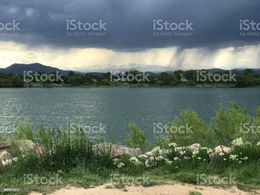 storm over waneka lake - Royalty-free Front Range - Mountain Range Stock Photo
