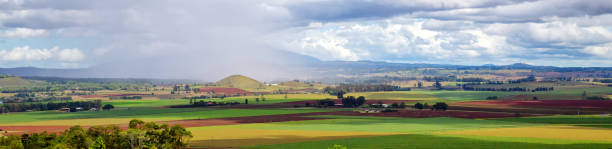 Storm panorama on the Atherton Tablelands in Tropical North Queensland, Australia stock photo