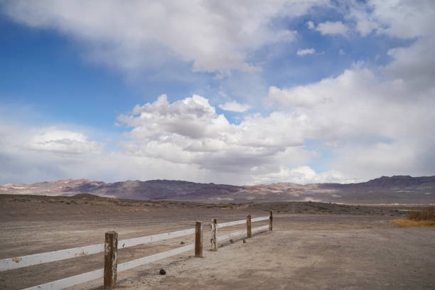 A storm passes though Fish Lake Valley in rural Nevada stock photo