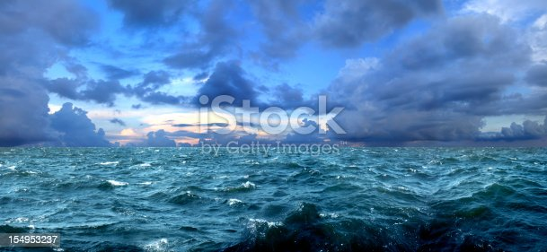 stormy weather over sea.