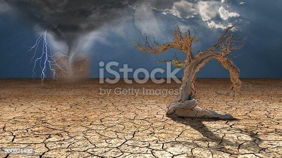 istock Storm rages in desert 900921492