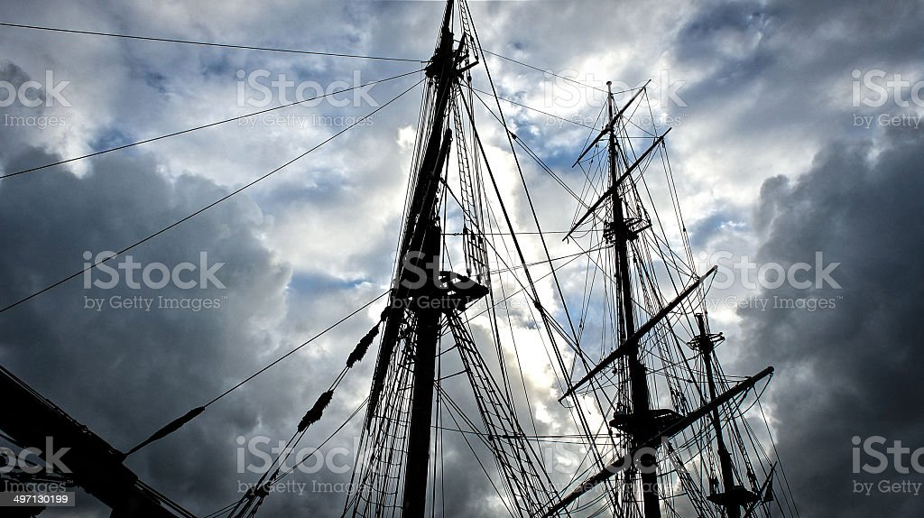 Storm Rigging stock photo