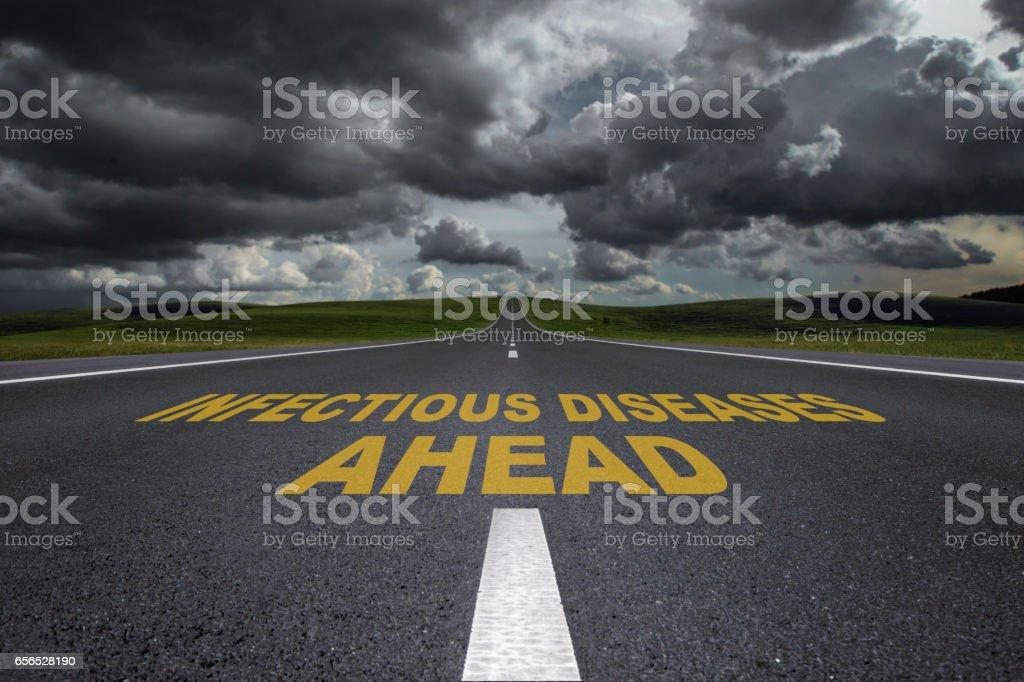 Storm Road stock photo