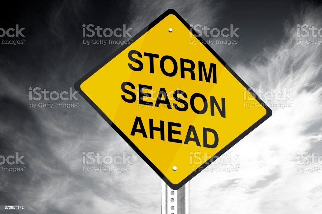 Storm season ahead stock photo