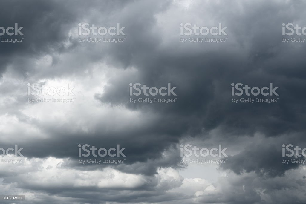 Storm sky, rain. stock photo