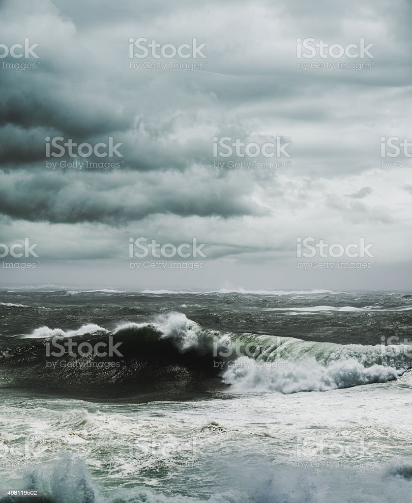 Storm Surf stock photo